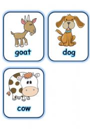 English Worksheets:  FLASHCARD SET 2- FARM ANIMALS - PART 4