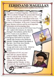 English Worksheets: Ferdinand Magellan