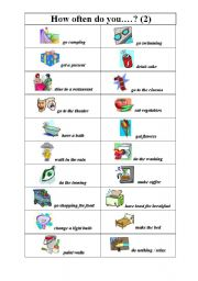 English Worksheets: How often do you..?