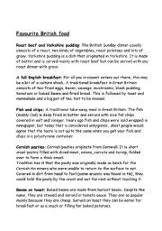 English Worksheet: Great British food. (part 2)