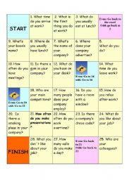 English Worksheet: Business  board game
