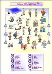 English Worksheets: JOBS / OCCUPATIONS (1/2)