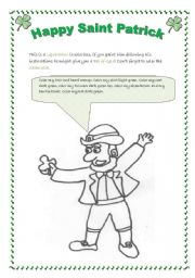 English Worksheets: Saint patrick activities for young learners