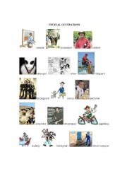 English Worksheets: unusual occupations