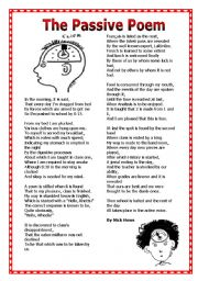 English Worksheet: The Passive Poem