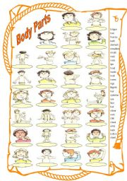 English Worksheets: Body Parts Worksheet