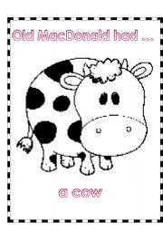 English Worksheet: ACTIVITY -PART 1 -(4 PAGES)  RELATED TO SONG -OLD MACDONALD HAD A FARM