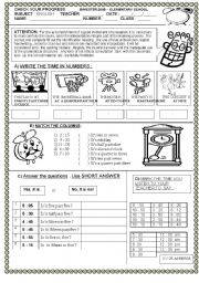 English Worksheet: WHAT TIME IS IT ?  TEST