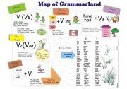 English Worksheets: Map of Grammarland