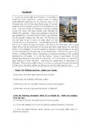 English Worksheets: florence