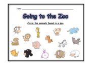 English Worksheets:  GOING TO THE ZOO  ACTIVITY - PART 2 OF 3