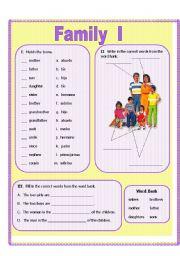 worksheet: Family I (color)