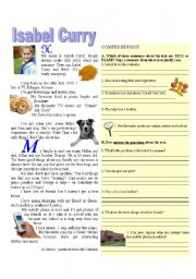 English Worksheets: Isabel Curry