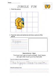 English Worksheets: JUNGLE FUN