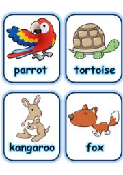English Worksheets:  FLASHCARD SET 4- OTHER ANIMALS - PART 4 OF 5 (29.07.2008)
