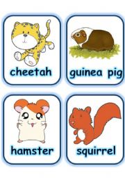 English Worksheets:   FLASHCARD SET 4- OTHER ANIMALS - PART 5 OF 5 (29.07.2008)