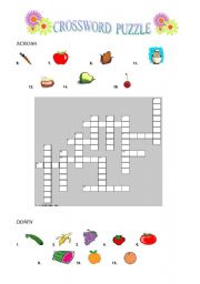 COUNTABLE  FOODCROSSWORD