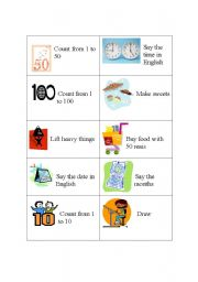 English Worksheets: activity cards 5
