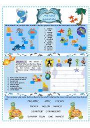English Worksheet: AT THE SEASIDE