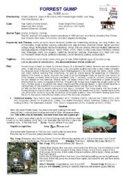 English Worksheet: Forrest Gump