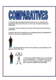 English Worksheet: Comparatives- A GAME