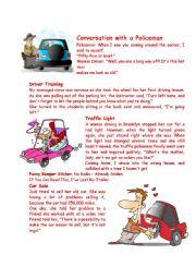 English Worksheet: Driver�s Jokes