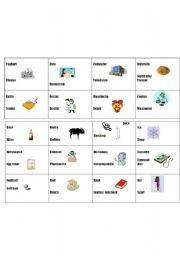 English Worksheet: Comparative superlative card game