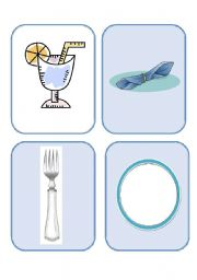 English Worksheet: Cutlery Flash-cards