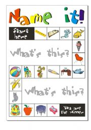 English Worksheet: Game: Name it!