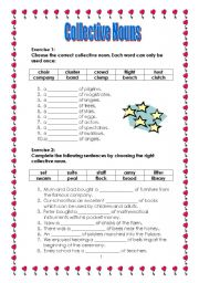 Printables Collective Nouns Worksheet english teaching worksheets collective nouns part 2