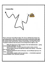 English Worksheet: Subject Verb Agreement Treasure chest game