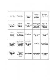 People Bingo - ESL worksheet by rgarfield