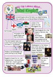 English Worksheet: United Kingdom - an introduction to the country