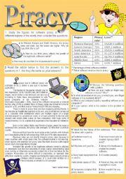 English Worksheet: Piracy