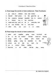 English Worksheets: Sentences
