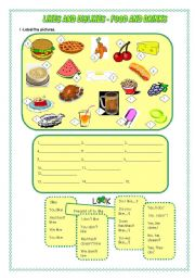 English Worksheet: Expressing Likes and dislikes- Food and drinks - 31.07.08