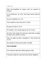 English Worksheets: Order the text