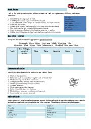 English Worksheets: Getting Started