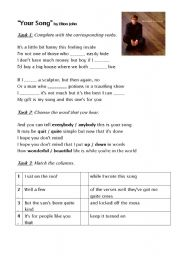 English Worksheets: Elton John