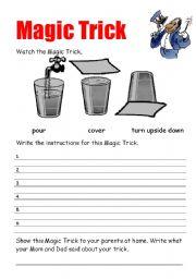 English Worksheets: magic trick