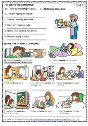 English Worksheet: IMPERATIVE / LET�S ( 3 / 5)