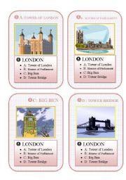 English Worksheets: BRITAIN - GO FISH CARD GAME - part 8 - LONDON