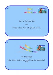 English Worksheets: Maisie and the dolphin - Card no.96 - Puzzle (summary) part  2 out of 2
