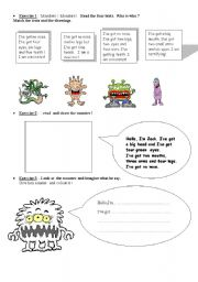 English Worksheets: Monters