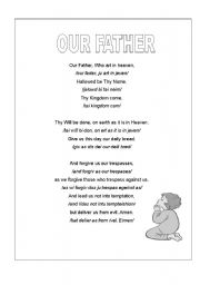 English Worksheets: OUR FATHER