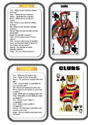 English Worksheet: CARD TWO - CONVERSATION GAME