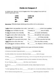 English worksheet: Verbs to Conquer 2