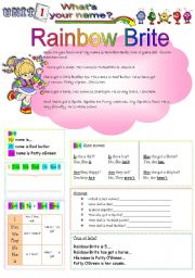 English Worksheet: Rainbow Brite