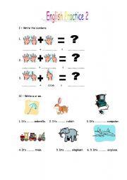 English worksheet: English Practice 2