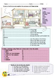 English Worksheet: There is/there are